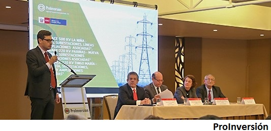 Peru awards Cobra transmission line projects