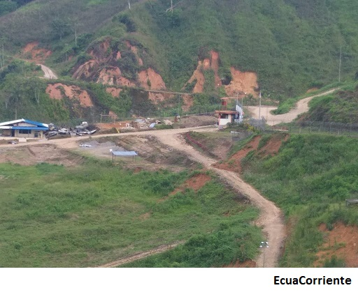 EcuaCorriente mining camp burned down