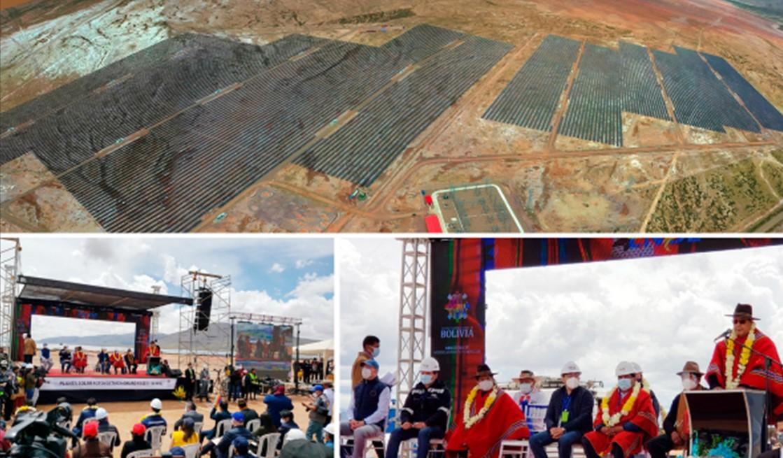 Bolivia inaugura su planta solar fotovoltaica más grande