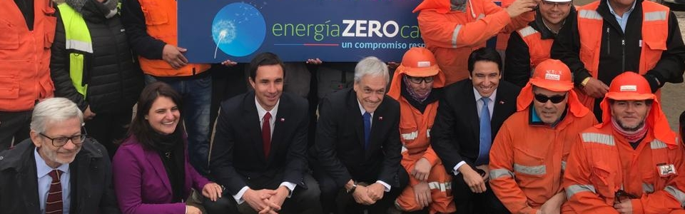President Piñera with minister Jobet inaugurates Cardones-Polpaico electric highway