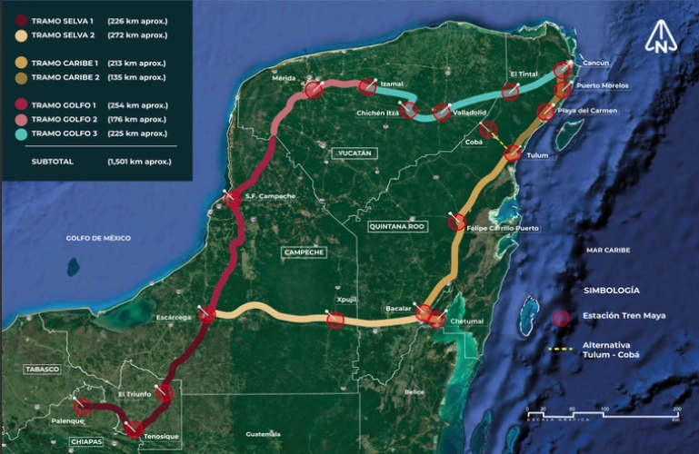 'Essential' Maya train works continue despite human rights claims