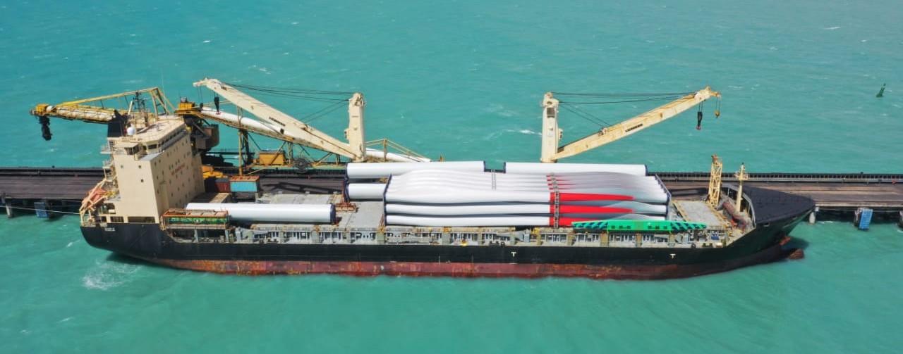 La Transición Energética es una realidad: llegaron las primeras turbinas eólicas de última tecnología a La Guajira