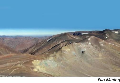 Filo reanuda perforaciones en frontera Chile-Argentina