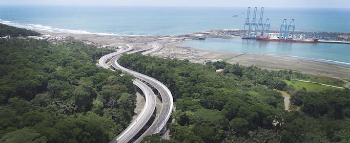 Costa Rica inaugura enlace vial a terminal de contenedores Moín