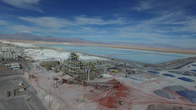 SQM lithium potassium operations in Salar de Atacama