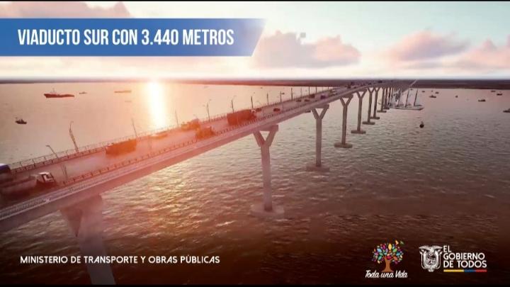 Presidente de Ecuador confirma puente de US$800mn en Guayaquil