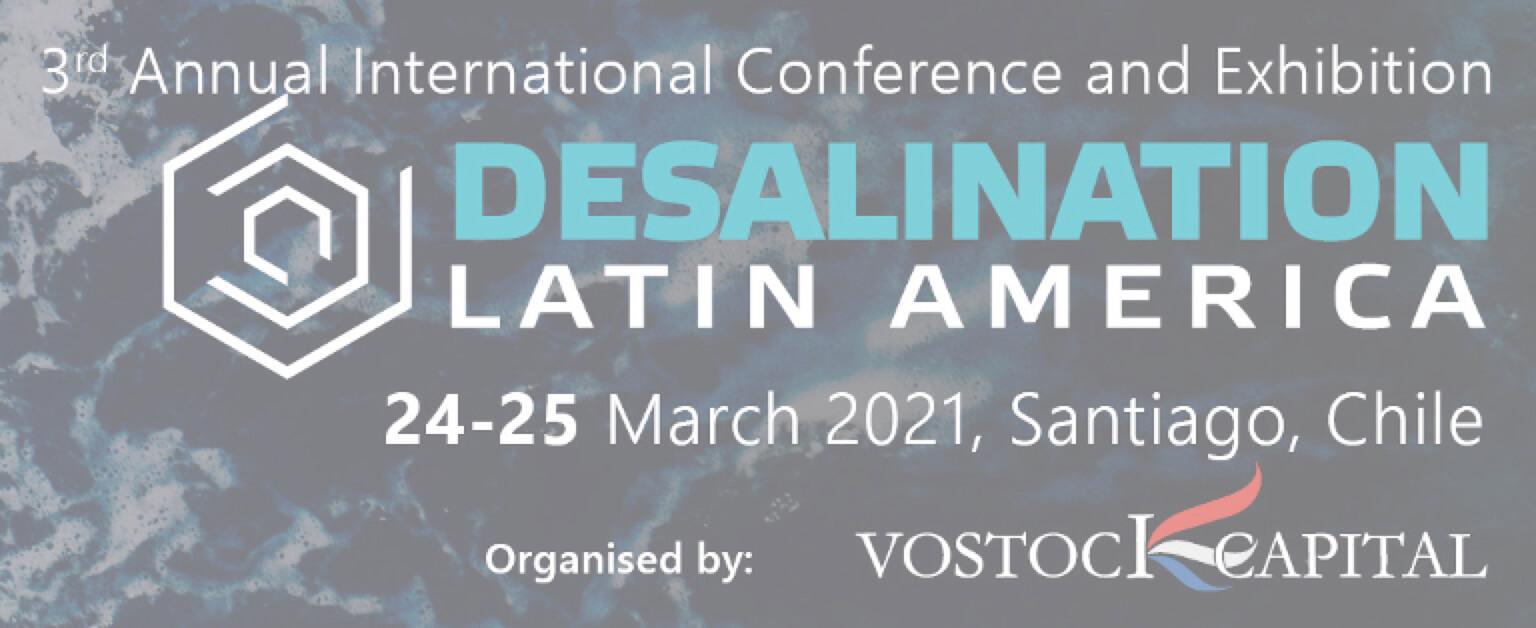 """Tercera Conferencia de negocios en línea y reuniones 1-a-1: """"Desalinización América Latina"""""""