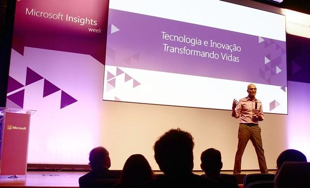 Presidente ejecutivo de Microsoft se refiere a la nube en Brasil