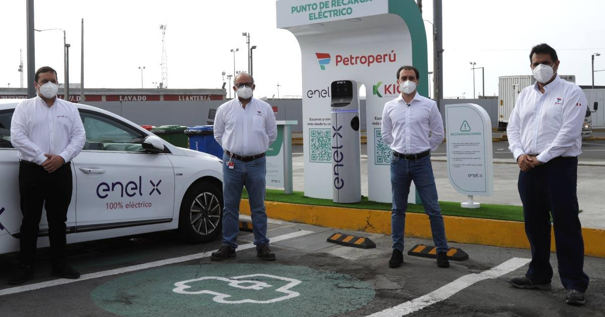 PETROPERÚ and ENEL X begin implementation of the network of electroline stations in service stations