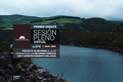 Plenary processed in the first debate the project of reforms to the Law of Water Resources of Ecuador