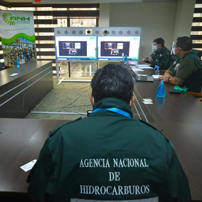 ANH y autoridades del sector hidrocarburífero de Venezuela sostuvieron reunión con el embajador de Bolivia Michel para fortalecer alianzas en el sector