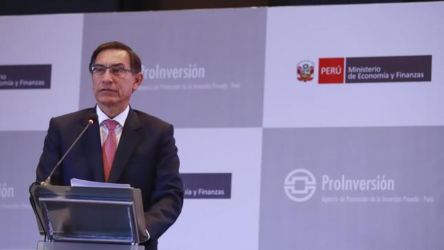 Presidente Vizcarra destaca ejecución de 23 proyectos por US$ 5,351 millones que impulsarán el cierre de brechas de infraestructura