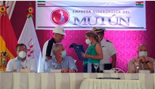 Ende Corporación delivered the profile of the Puerto Quijarro-San Juan del Mutún- Puerto Busch transmission line project at 115 KV