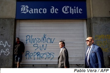 How bad could protest fallout be for Banco de Chile's loan portfolio?