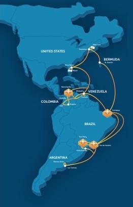 GlobeNet pasará fibra a través de Venezuela y Colombia a Brasil