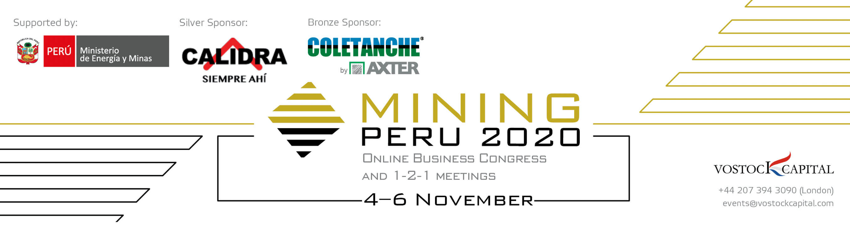 Mining Peru 2020: Register to the Online Business Congress and 1-2-1 meetings
