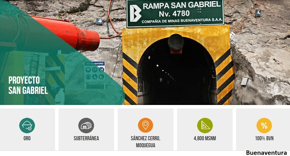 Buenaventura busca optimizar proyecto de oro San Gabriel