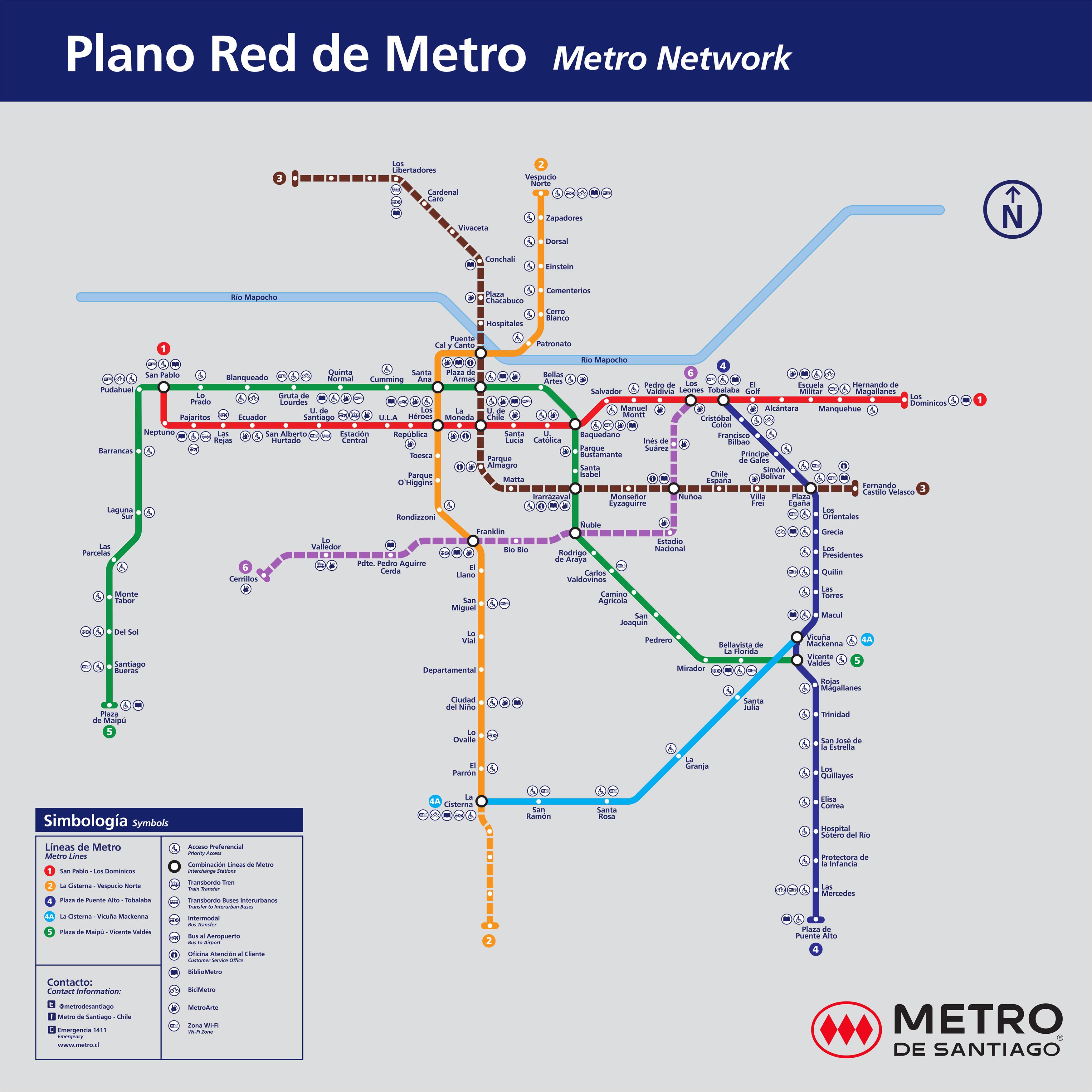 Santiago Subway Map.Santiago Metro Line Extension To Begin 2017 Bnamericas