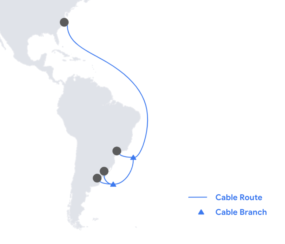 Google to build 2nd proprietary US-South America cable