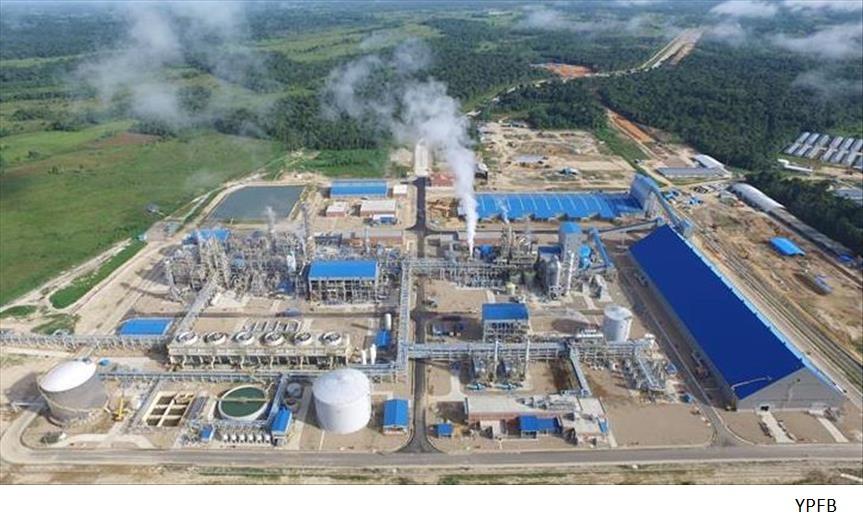 Bolivia advances plans to restart petchem plant