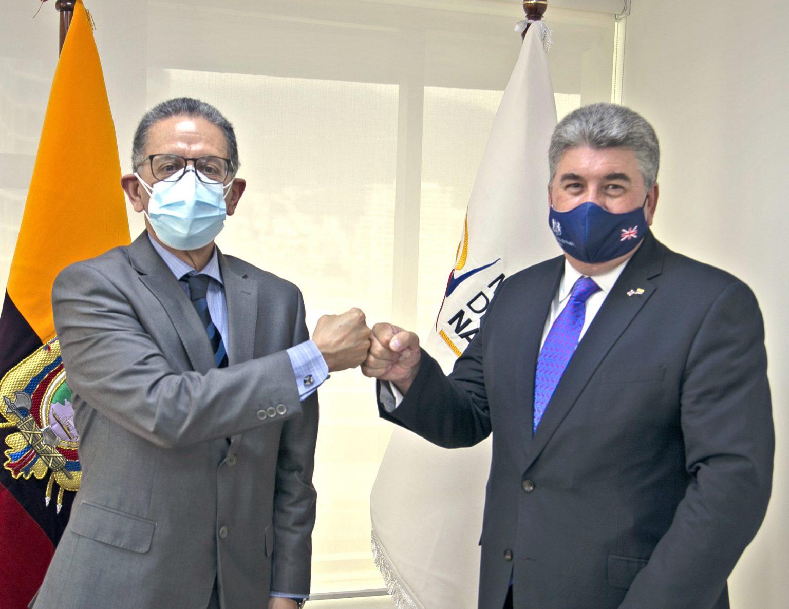 Ministro de Energía de Ecuador y Embajador del Reino Unido mantuvieron reunión de cooperación bilateral