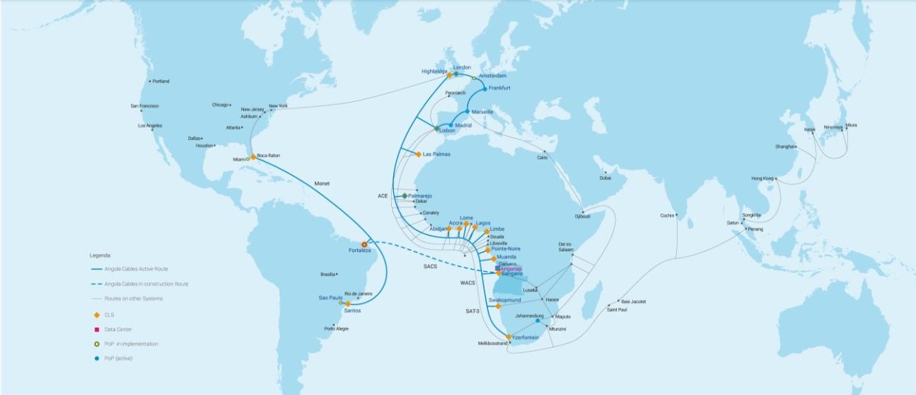 Nokia y Angola Cables realizan pruebas en sistema Brasil-EE.UU.-África