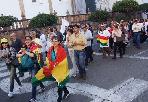 Bolivian opposition stages general strike over poll results