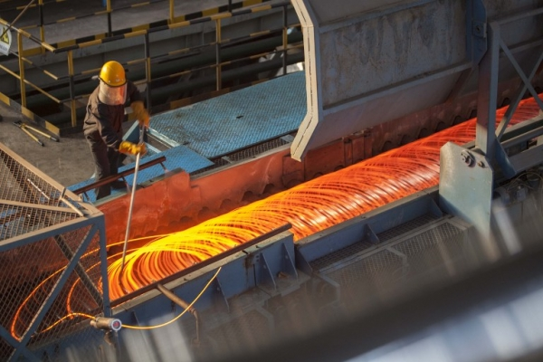 South American steel output drops