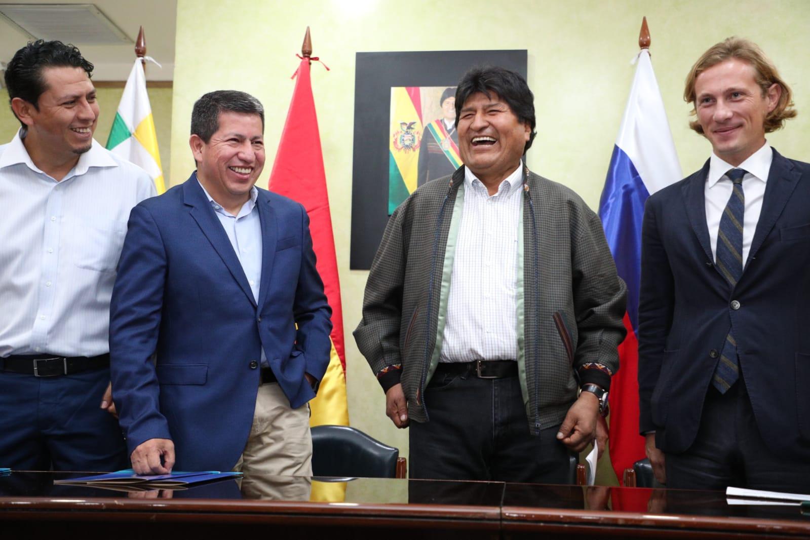 Rusa Acron e YPFB acuerdan venta de gas y empresa conjunta para comercialización de urea en Brasil