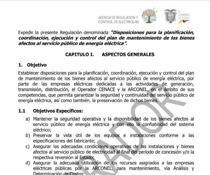 Ecuador publica proyecto de regulación
