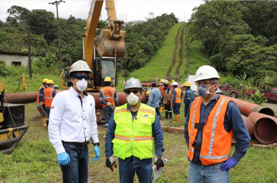 General Manager of Petroecuador supervised construction work on the new variant of SOTE and Poliducto