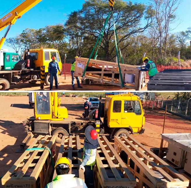 Measurement transformers arrive at Santa Cruz for the El Dorado substation