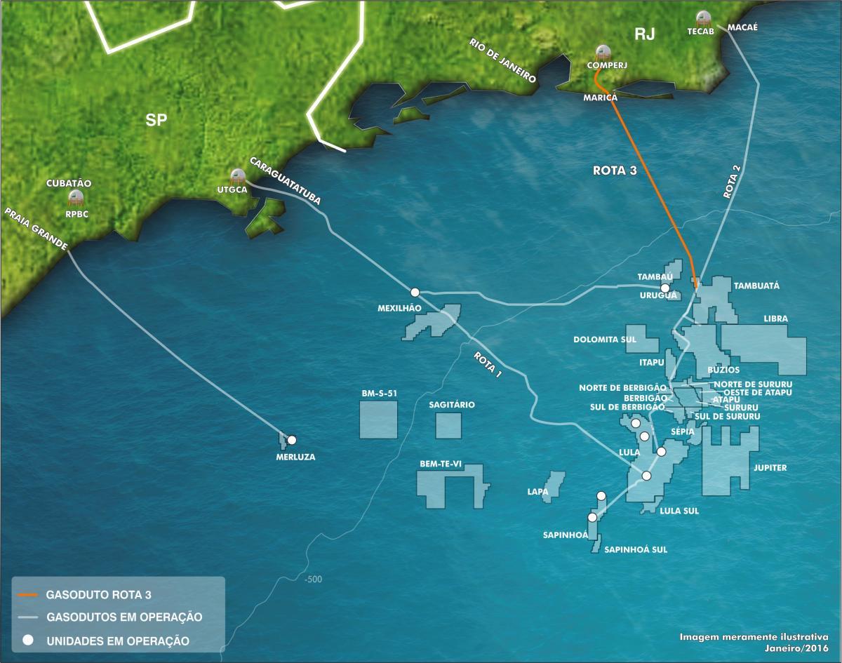 Petrobras evalúa sacar ductos del presal a la bolsa