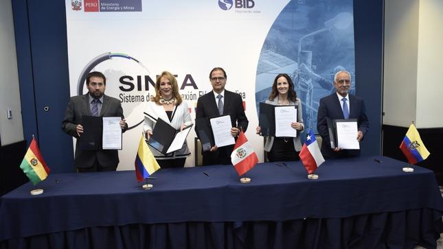 Interconexión eléctrica de la Comunidad Andina logra avances en el SINEA