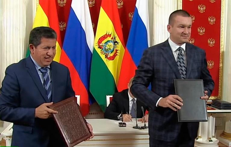 Bolivia y empresa rusa Acron concretan venta de gas