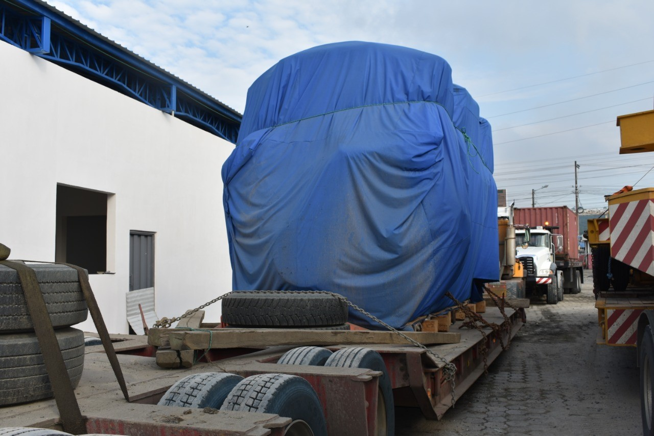 First of three engines arrives for the Esmeraldas II Thermal Power Plant