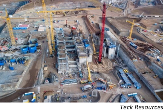 Teck targets completion of Chile's QB2 in 2H22