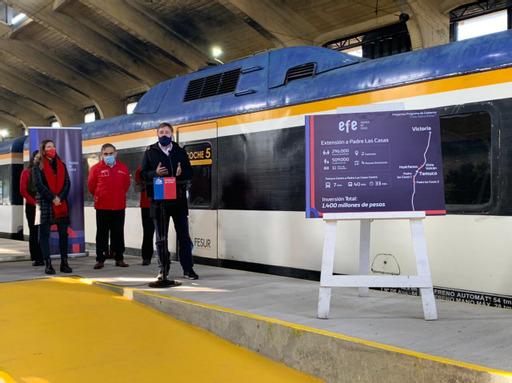 Chile presenta proyecto ferroviario para la Araucanía