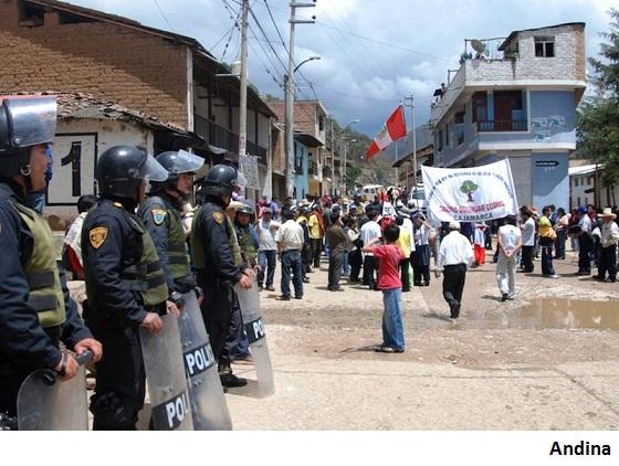 Conflictos sociales contra mineras predominan en Perú
