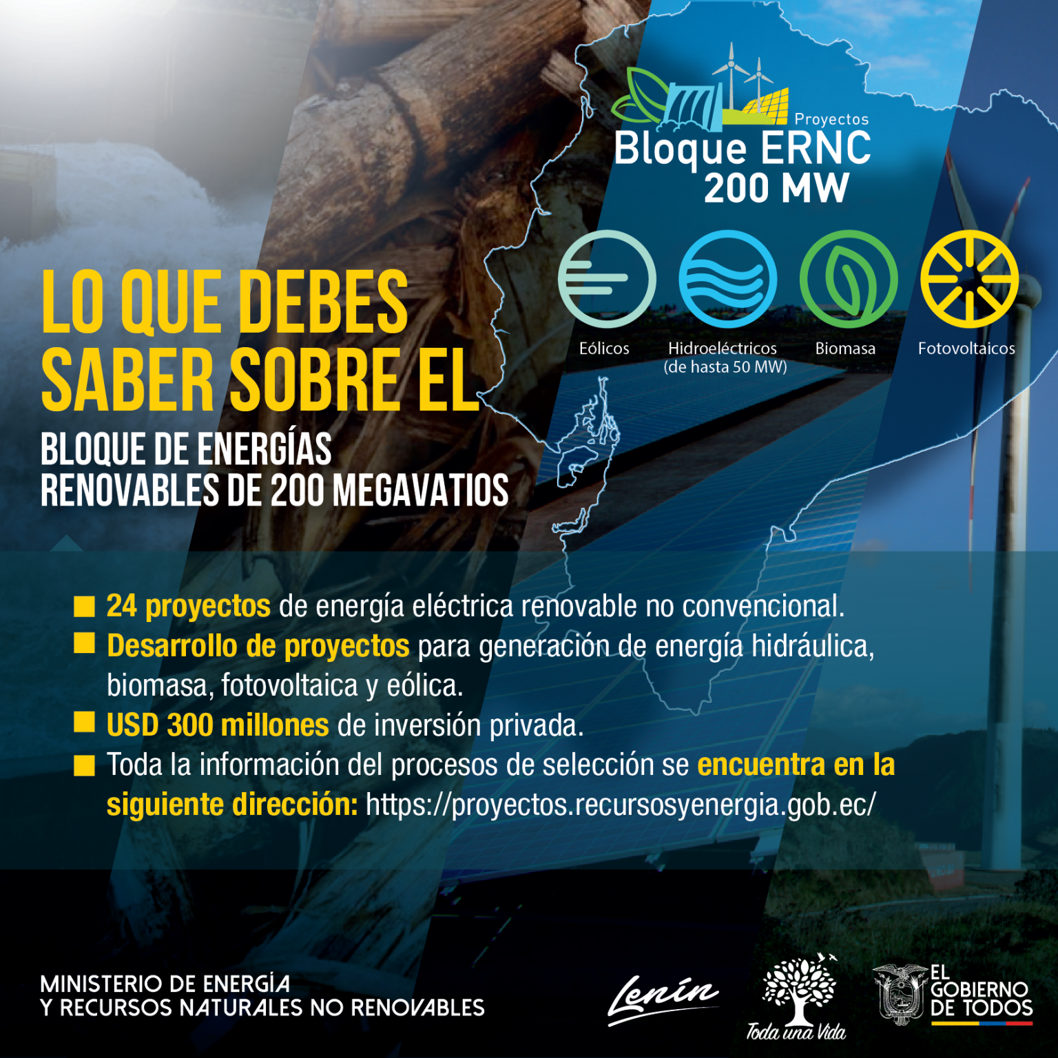 Ecuador offers the private sector the development of a 200 megawatt renewable energy block