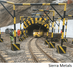 Sierra mantendrá solo servicios críticos en mina peruana Yauricocha
