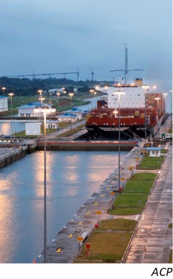 Sequía aumenta riesgos para el Canal de Panamá