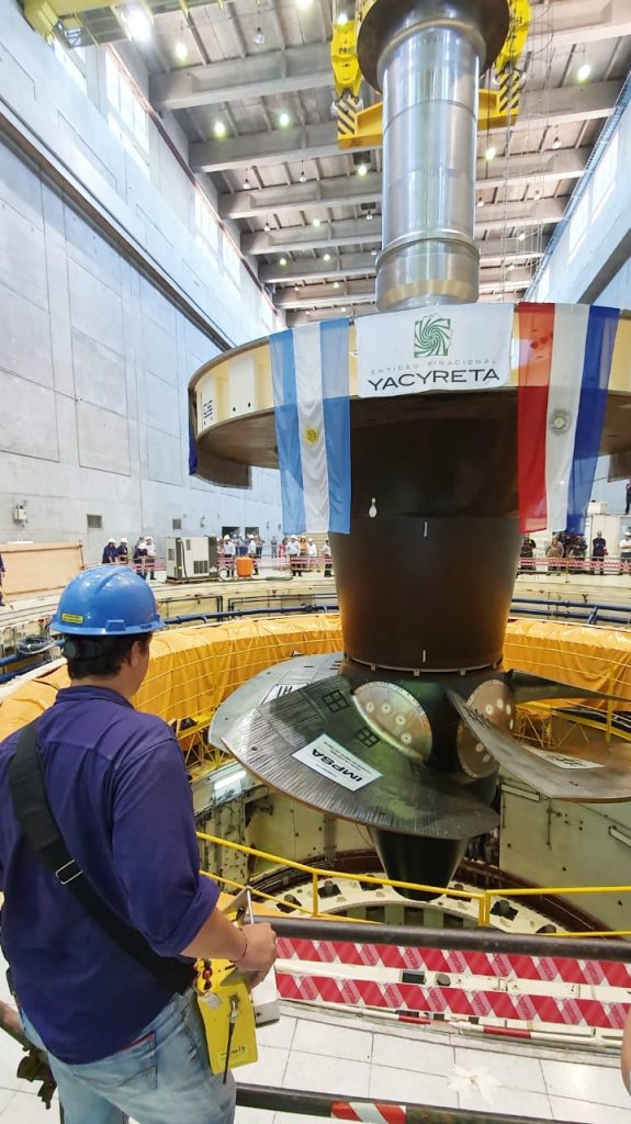 Yacyretá: after 25 years of operation, the turbine of Generating Unit No. 3 is replaced