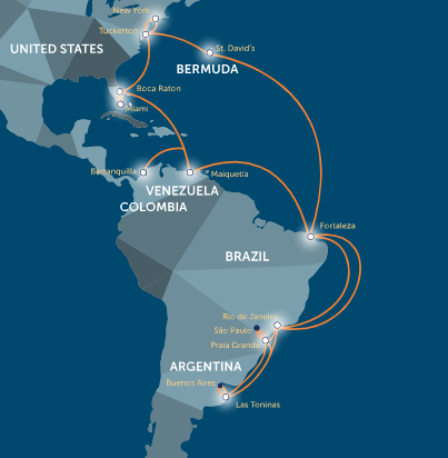 GlobeNet downplays competition on Atlantic cable routes