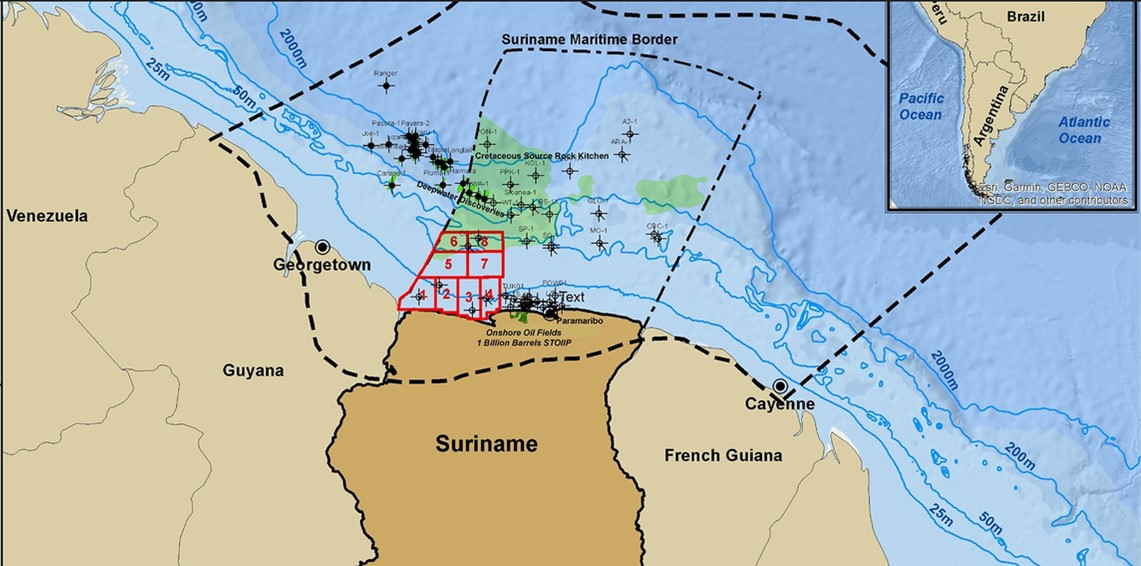 Ofertas más favorables para los bloques costa afuera poco profundos de Surinam