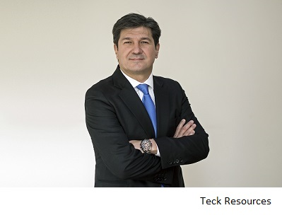 Teck names new VP for South America