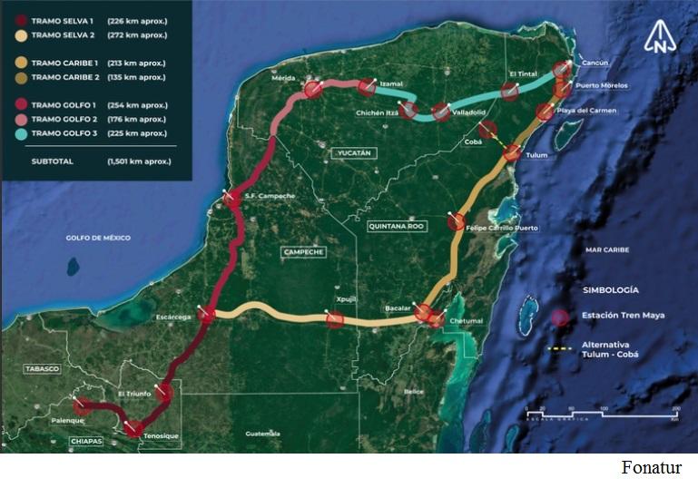 Consorcio hispano-mexicano se adjudica tercer tramo de Tren Maya