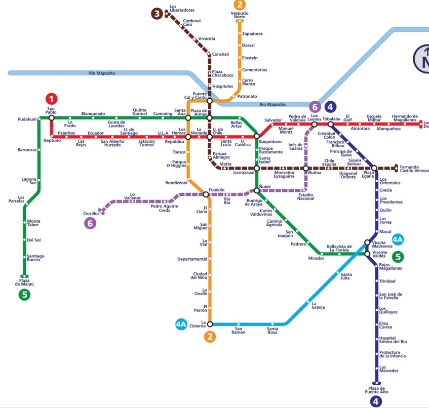 Subway Map In Chile.Metro De Santiago Shareholders Approve Us 524mn Capital Increase