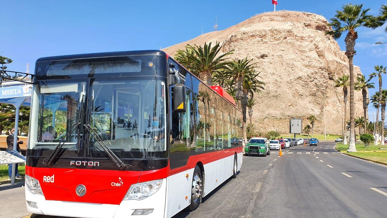Arica será primera ciudad de Chile con buses 100% eléctricos