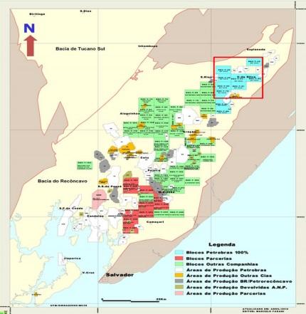Petrobras publica detalles de venta de bloques en Recôncavo